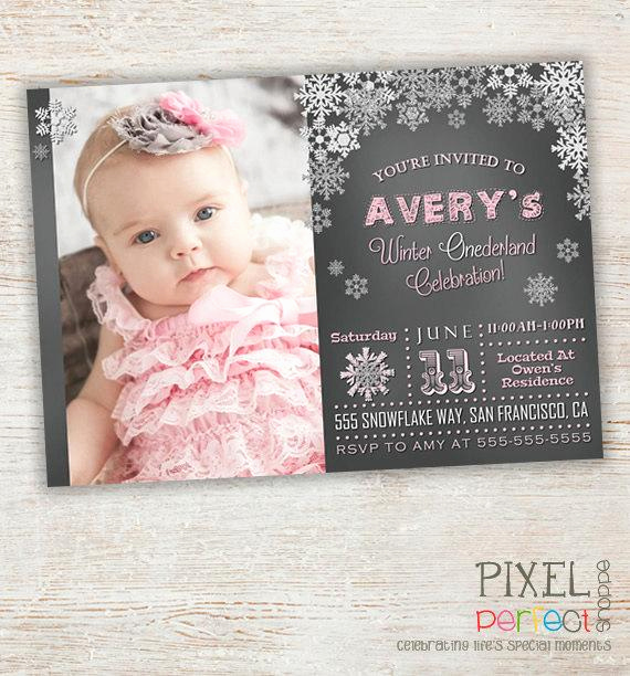 Winter Wonderland Invitation Ideas Luxury Winter Wonderland Birthday Invitation by Pixelperfectshoppe