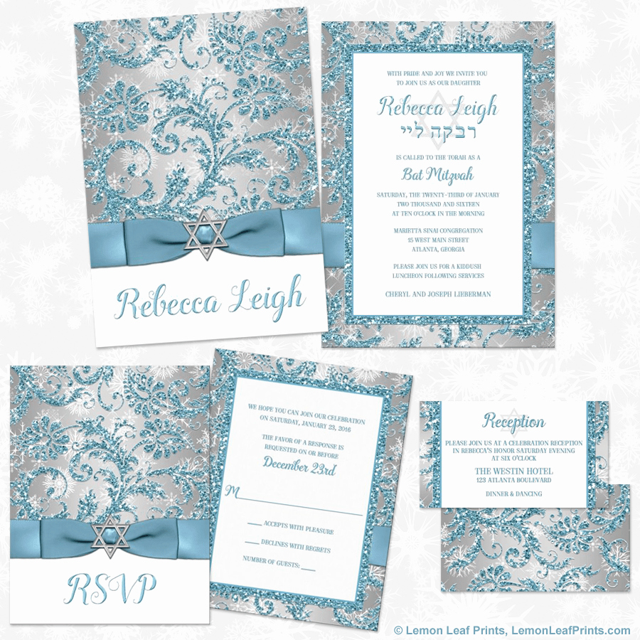 Winter Wonderland Invitation Ideas New Party Simplicity Winter Wonderland Bat Mitzvah Invitations