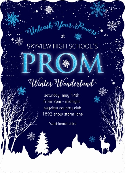Winter Wonderland Invitation Ideas New Winter Wonderland Prom Invitation