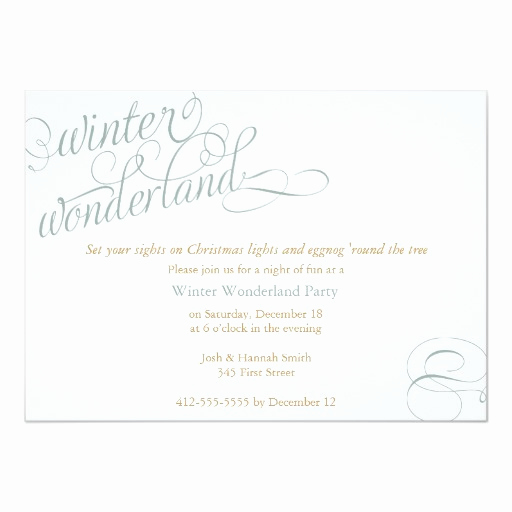 Winter Wonderland Invitation Ideas Unique Winter Wonderland 5x7 Paper Invitation Card