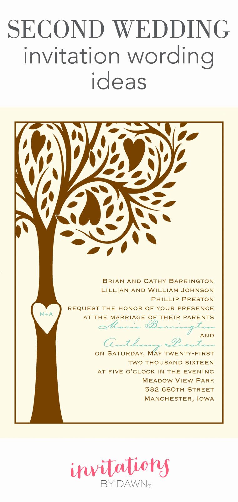 Witty Wedding Invitation Wording Elegant Second Wedding Invitation Wording