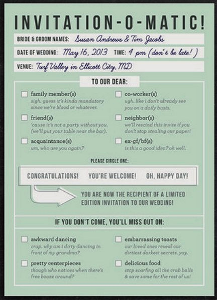Witty Wedding Invitation Wording Inspirational Funny Wedding Invitation 01 432×599