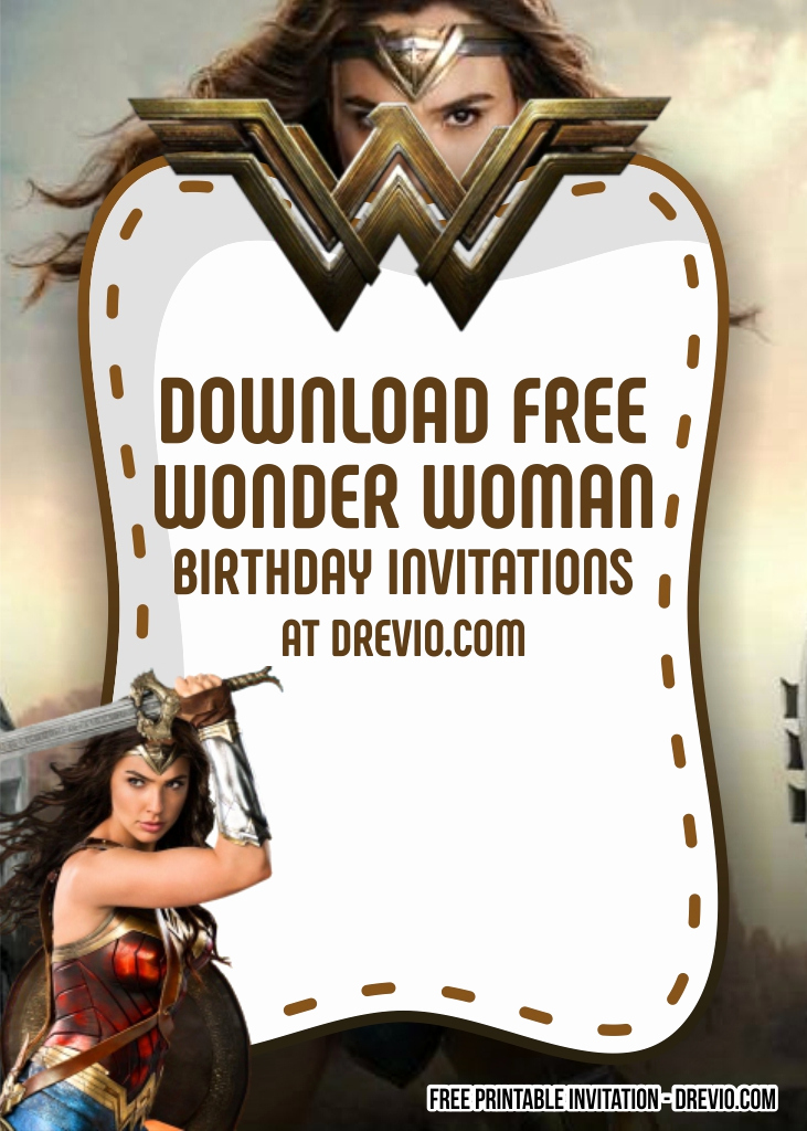 Wonder Woman Invitation Template Best Of Free Superhero Wonder Woman Invitation Templates Free
