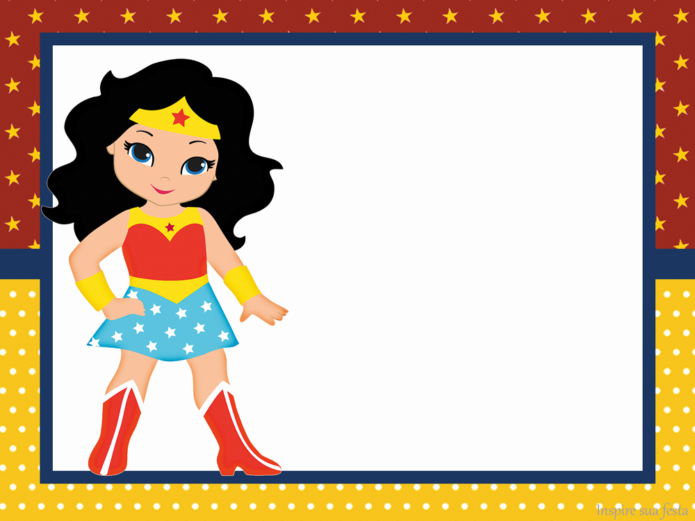 Wonder Woman Invitation Template Elegant Wonder Woman Chibi Free Printable Invitations Oh My