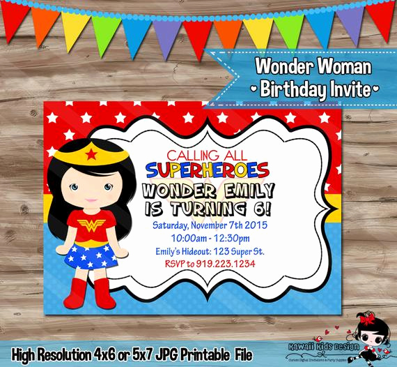 Wonder Woman Invitation Template Elegant Wonder Woman Invitation Wonder Woman Invitation Wonder Woman