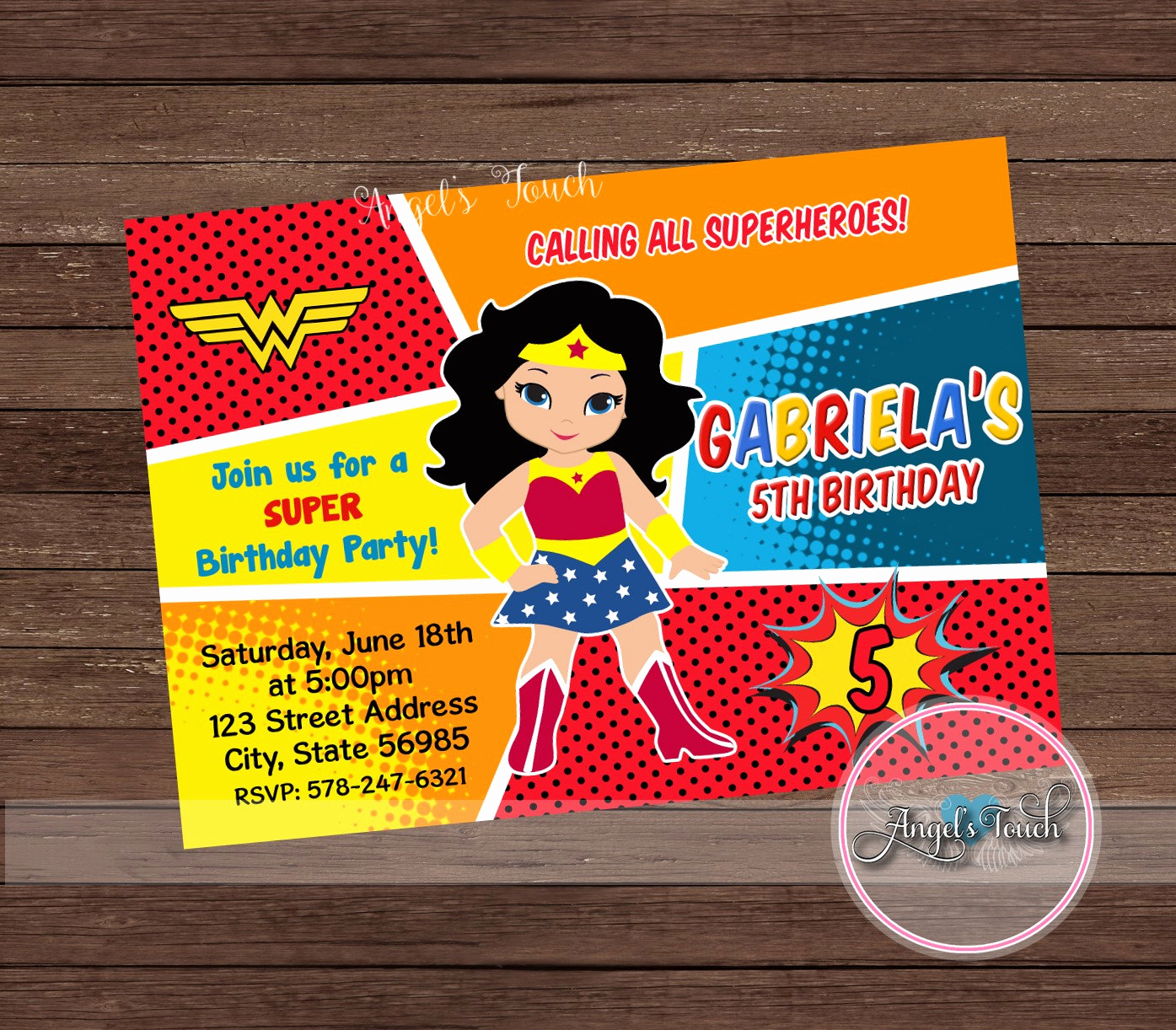 Wonder Woman Invitation Template Elegant Wonder Woman Party Invitation Wonder Woman Invitation Wonder