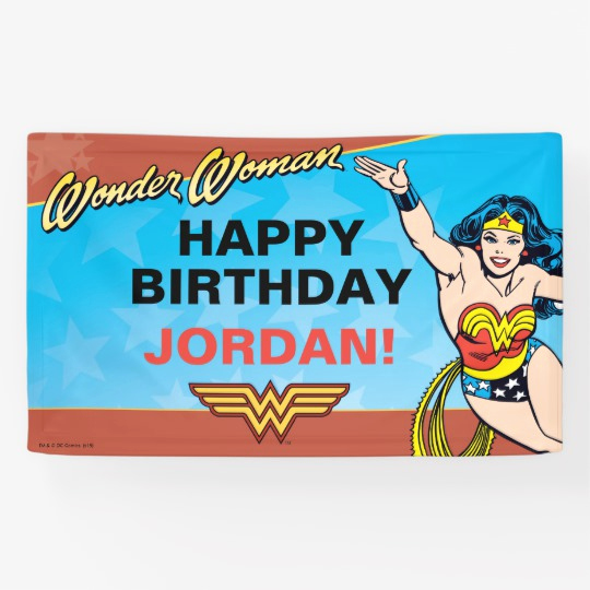Wonder Woman Invitation Template Inspirational Dc Ics Wonder Woman Birthday Banner