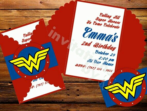 Wonder Woman Invitation Template New Wonder Woman Invitations Party Ideas