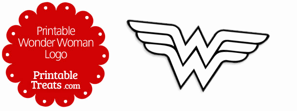 Wonder Woman Invitation Template Unique Printable Wonder Woman Logo — Printable Treats