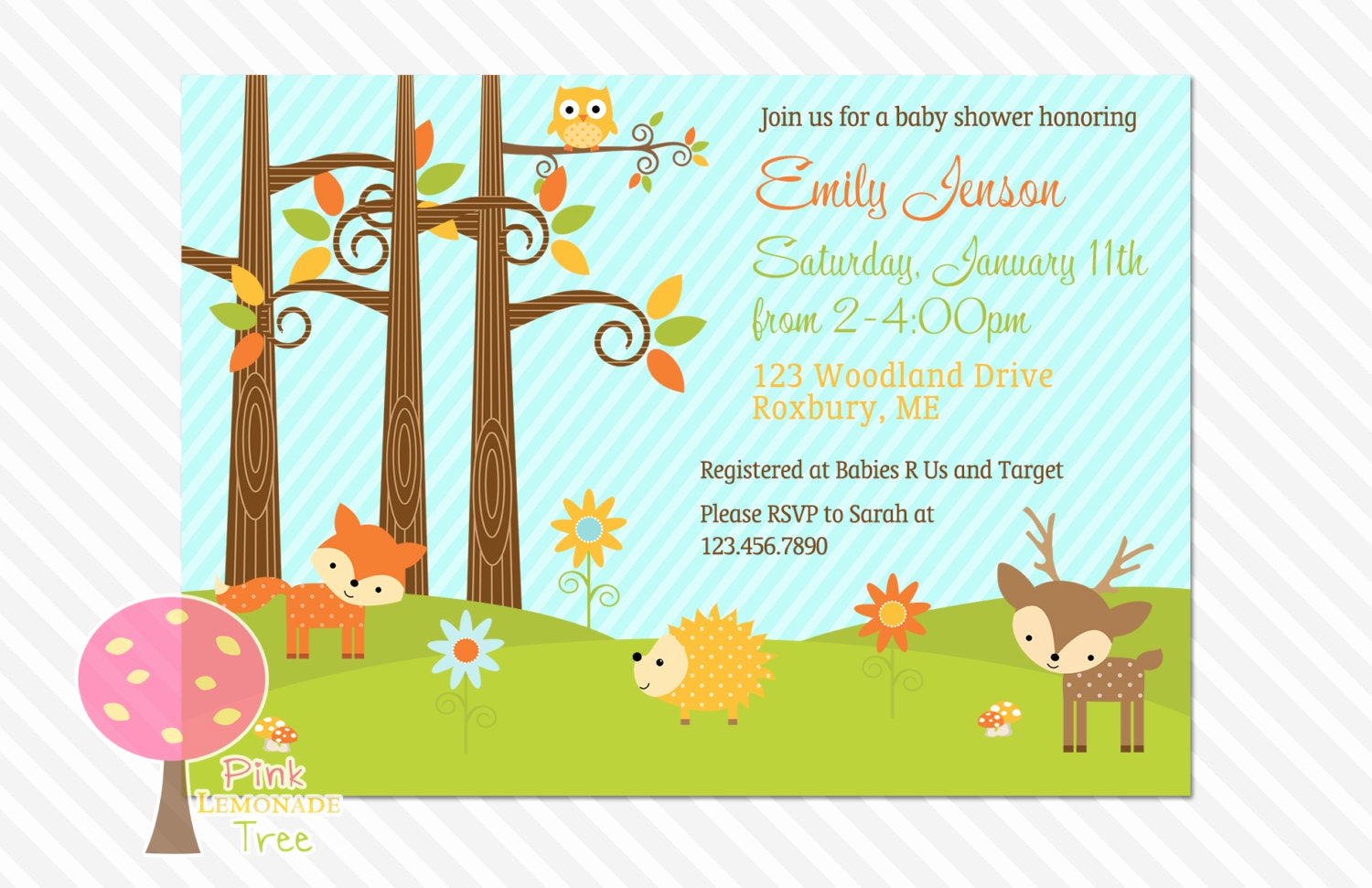 Woodland Baby Shower Invitation Awesome Woodland Baby Shower Invitation Boy or Girl Gender Neutral