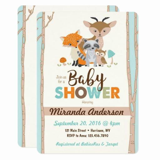 Woodland Baby Shower Invitation Awesome Woodland Baby Shower Invitations