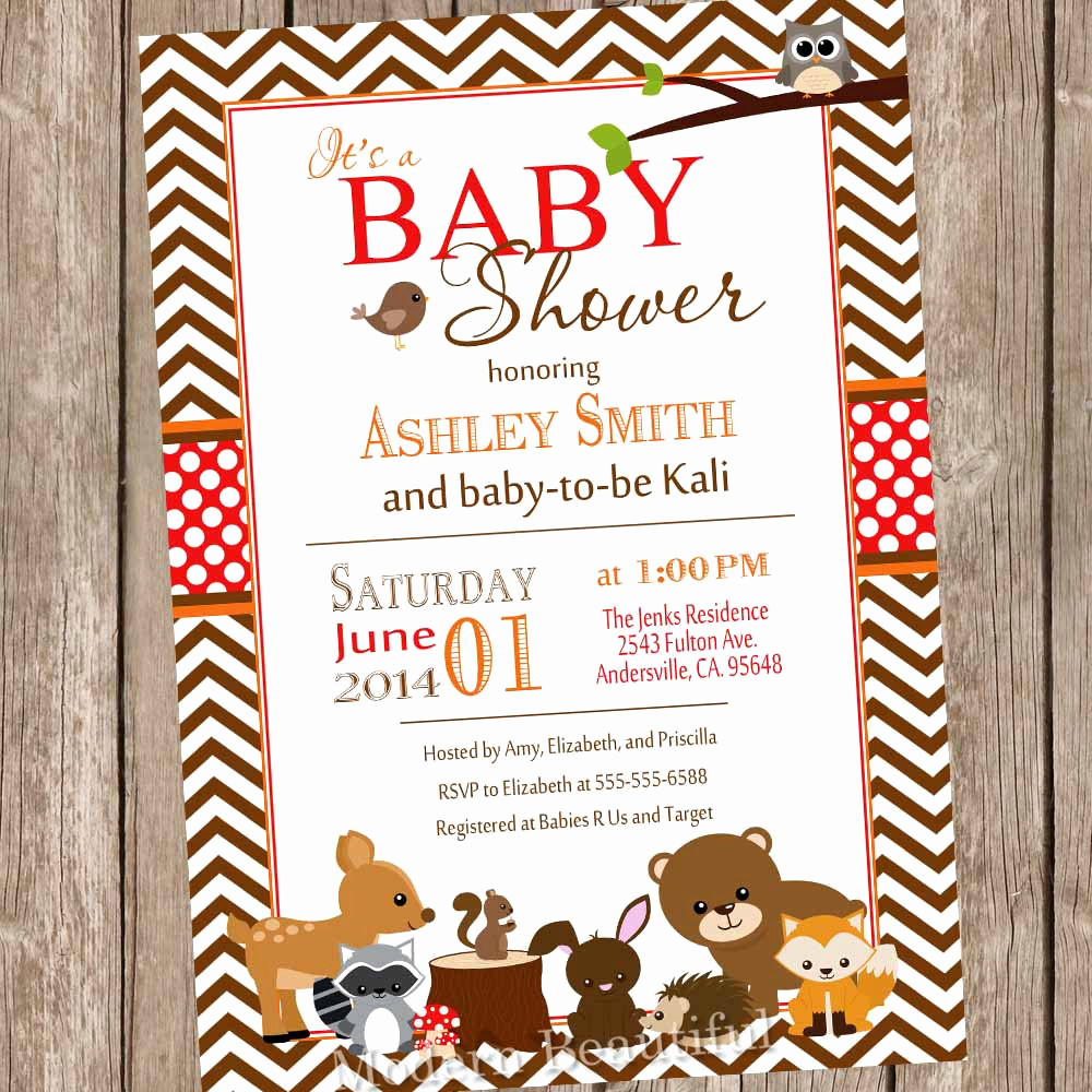 Woodland Baby Shower Invitation Beautiful Woodland Baby Shower Invitation Fall Baby Shower Invitation
