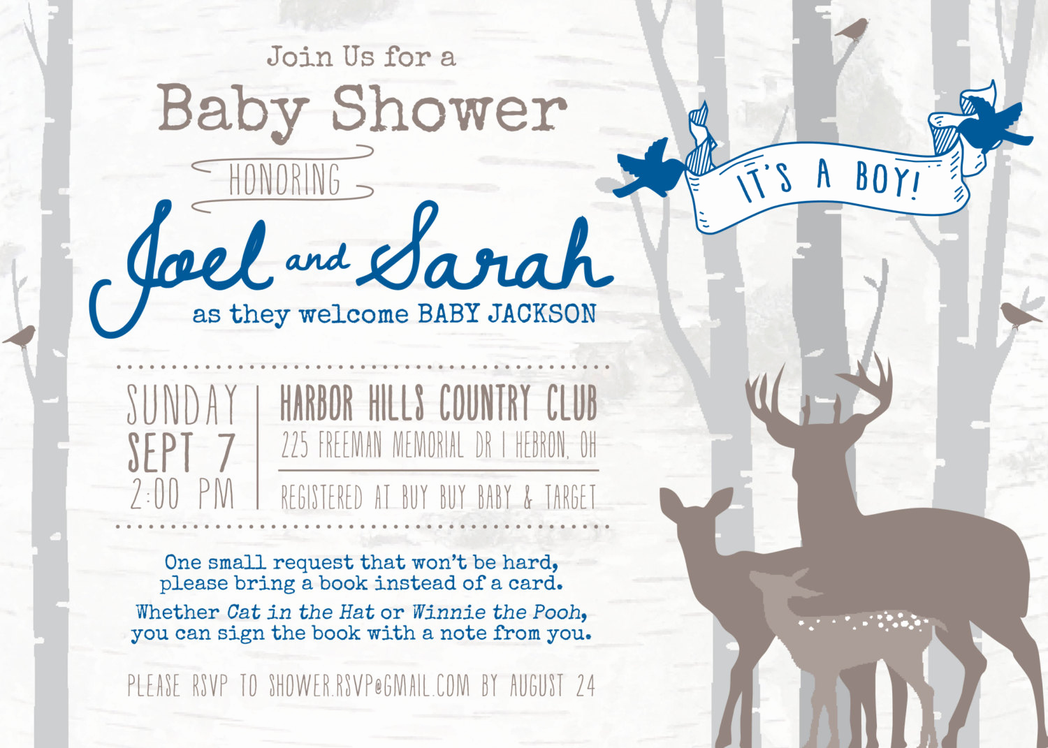 Woodland Baby Shower Invitation Inspirational Deer Woodland Baby Shower Invitation Digital File