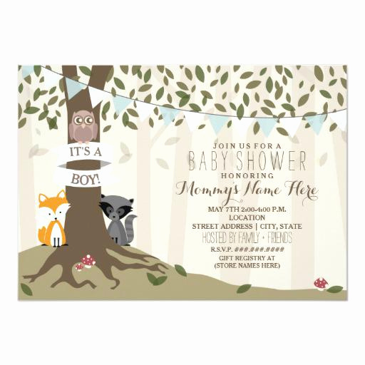 Woodland Baby Shower Invitation Inspirational Woodland Baby Shower Invitations
