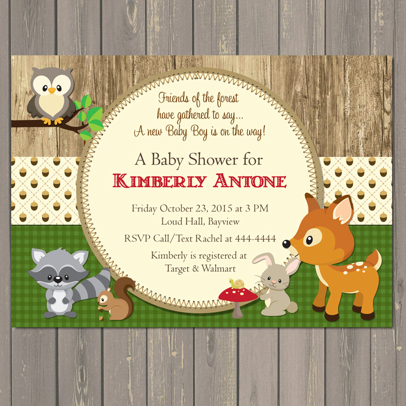 Woodland Baby Shower Invitation Lovely Woodland Baby Shower Invitations forest Animals Shower