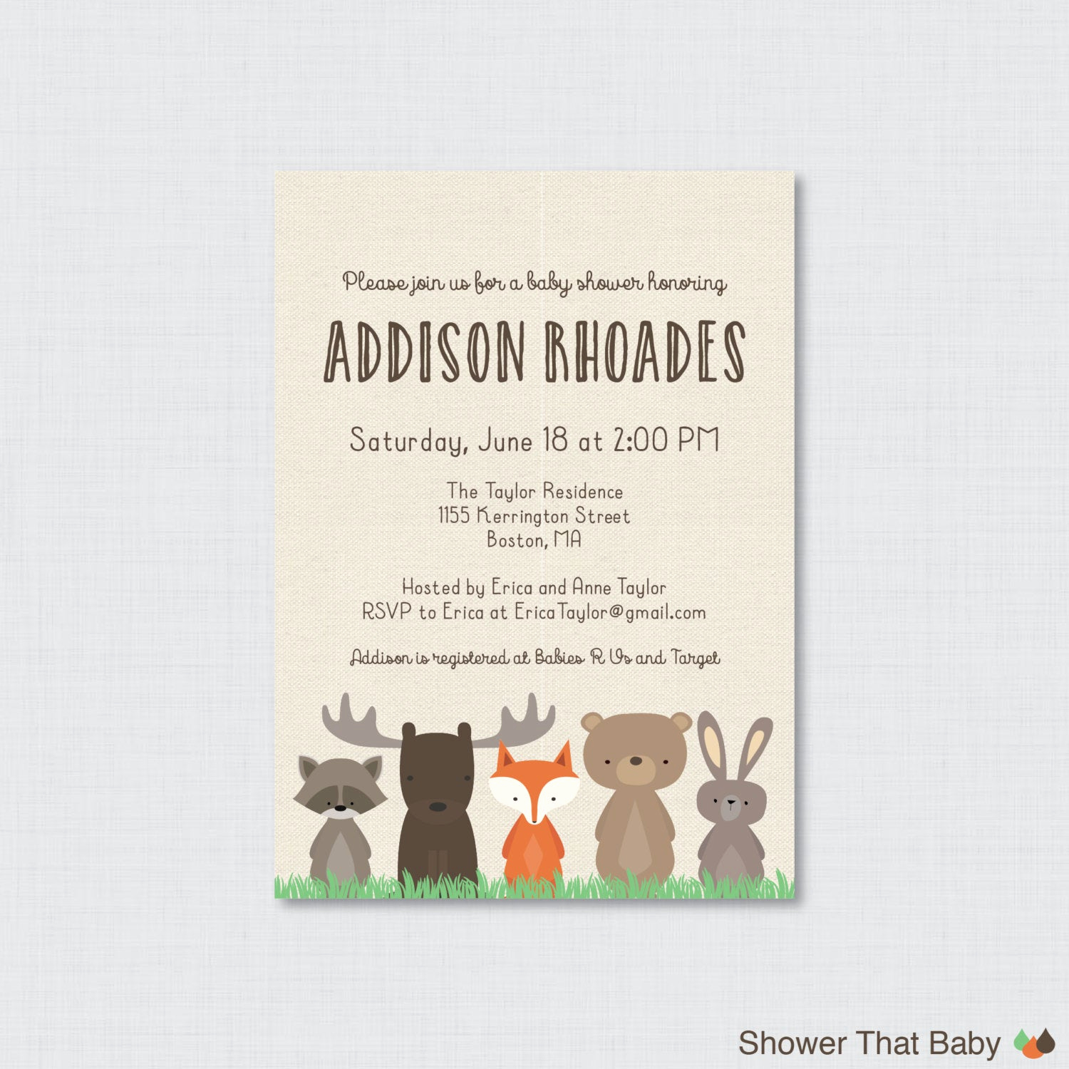 Woodland Baby Shower Invitation New Woodland Baby Shower Invitation Printable or Printed