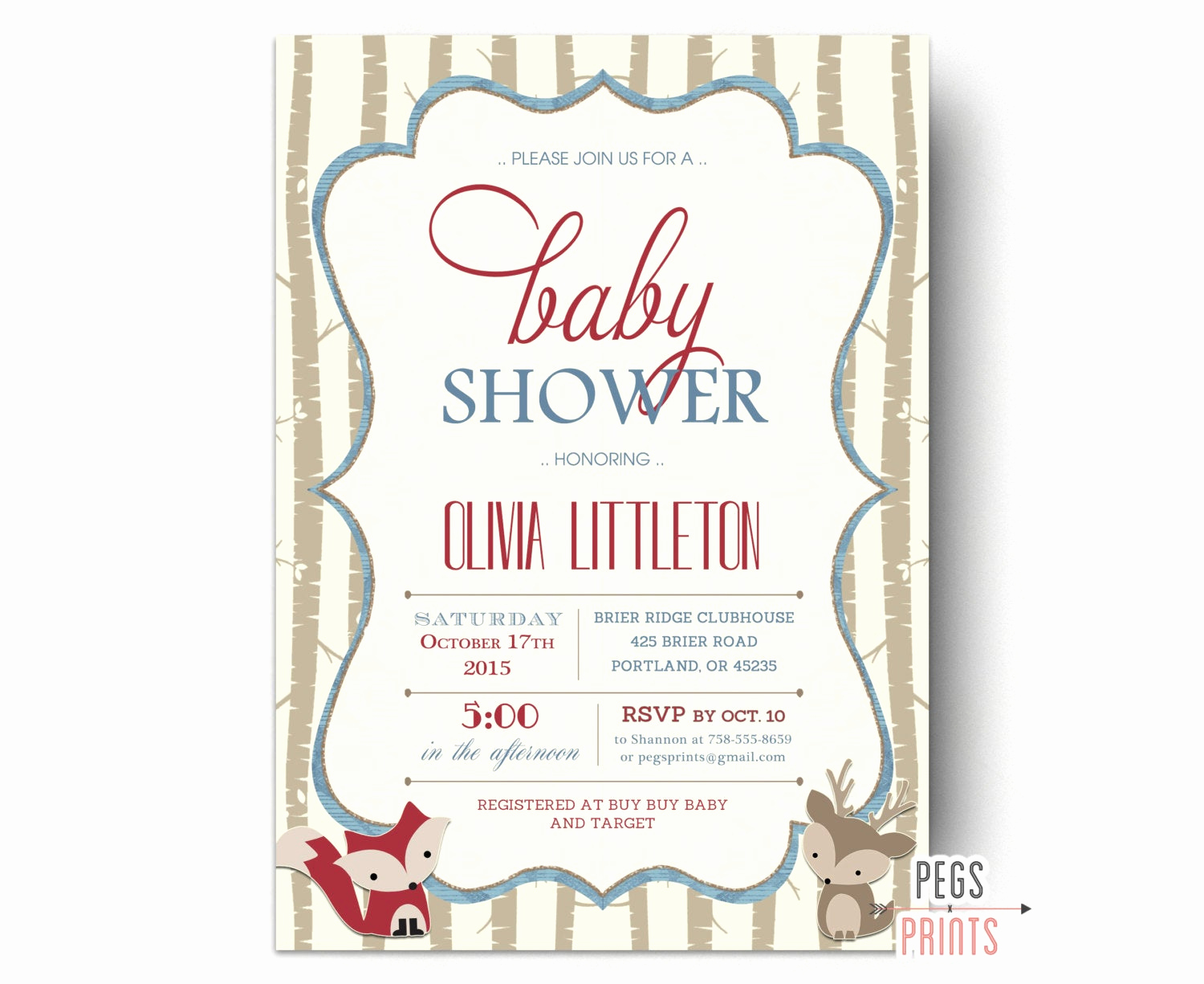 Woodland Baby Shower Invitation New Woodland Shower Invitation Woodland Baby Shower Invites