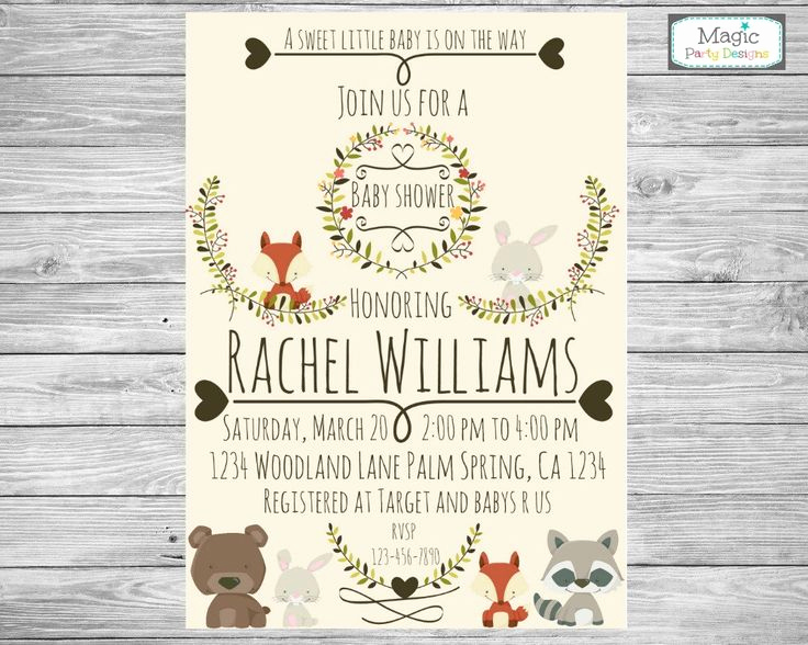 Woodland Baby Shower Invitation Unique 17 Best Ideas About forest Baby Showers On Pinterest