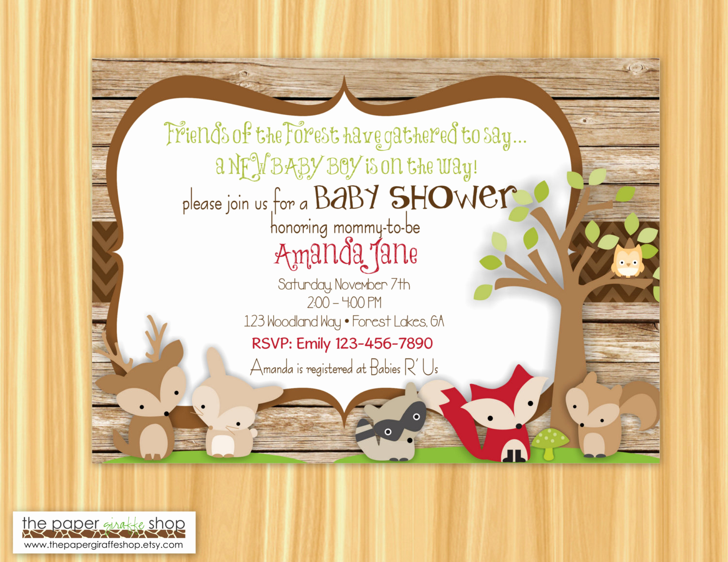Woodland Baby Shower Invitation Unique Woodland Creatures Baby Shower Invitation forest Friends