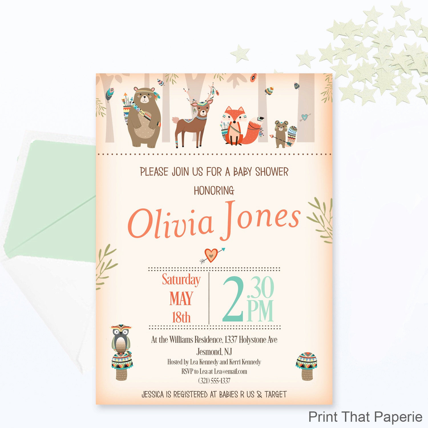 Woodlands Baby Shower Invitation Awesome Woodland Baby Shower Invitation Woodland Invitation