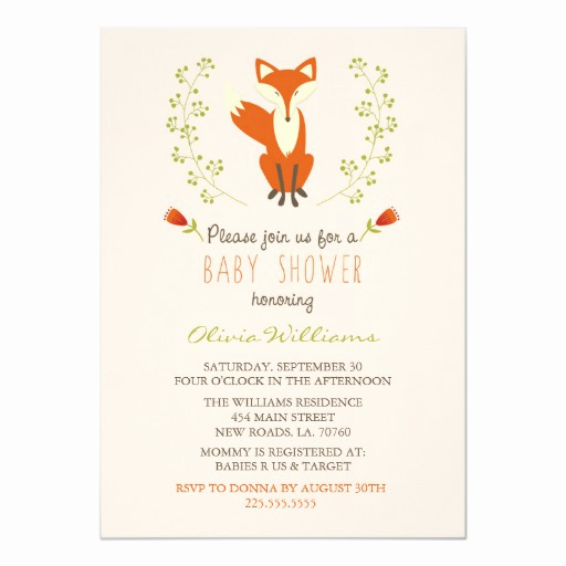 Woodlands Baby Shower Invitation Awesome Woodland Fox Baby Shower Invitations