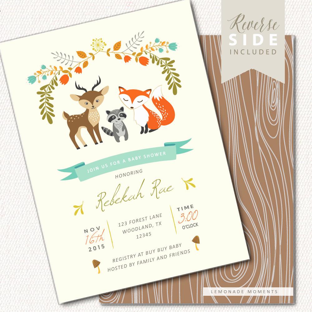 Woodlands Baby Shower Invitation Best Of Woodland Baby Shower Invitation Printable Woodland Baby