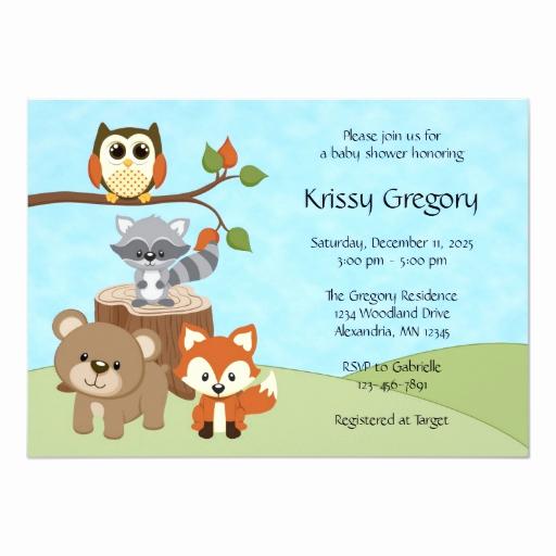 Woodlands Baby Shower Invitation Fresh Woodland forest Baby Shower Invitations