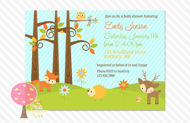 Woodlands Baby Shower Invitation Inspirational Woodland Baby Shower Invitation Boy or Girl Gender Neutral
