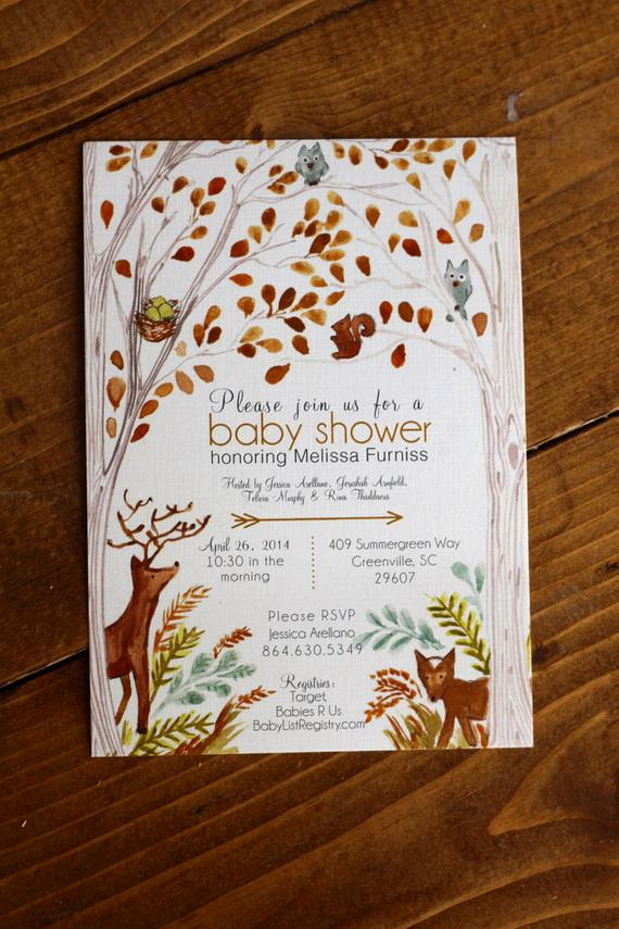 Woodlands Baby Shower Invitation Lovely Items Similar to Woodland forest Baby Shower Invitation On