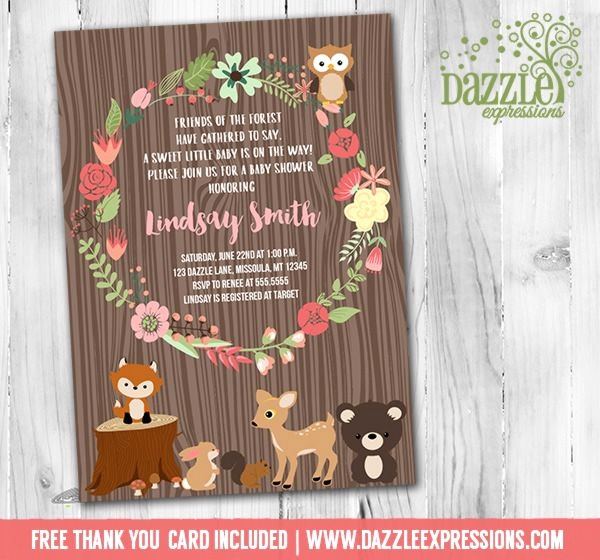 Woodlands Baby Shower Invitation Lovely Printable Woodland Baby Shower Invitation