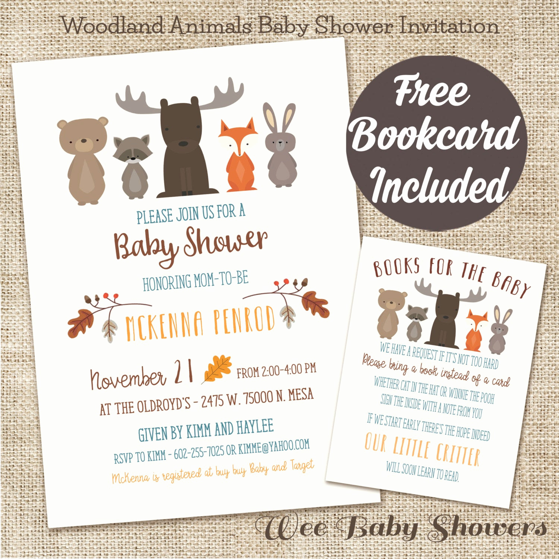 Woodlands Baby Shower Invitation New Woodland Animal Baby Shower Invitation