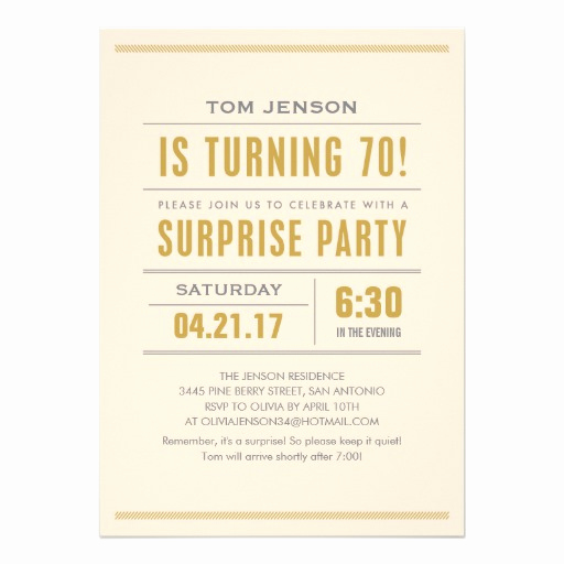 Wording for 70th Birthday Invitation Awesome Big Type 70th Birthday Surprise Party Invitations