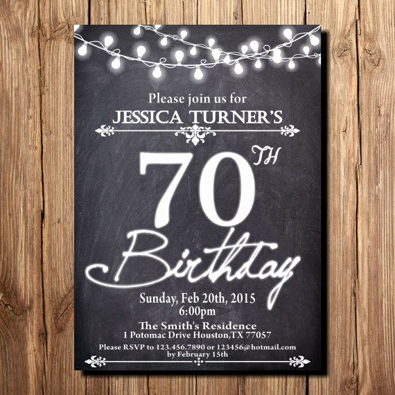 Wording for 70th Birthday Invitation Beautiful Best 25 70th Birthday Invitations Ideas Only On Pinterest