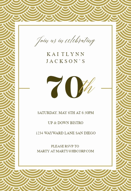 Wording for 70th Birthday Invitation Fresh 70th Birthday Invitation Templates Free