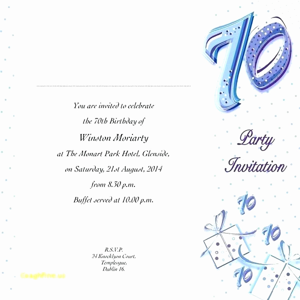 Wording for 70th Birthday Invitation Inspirational 47 Birthday Breakfast Invitation Wording Pics C1x