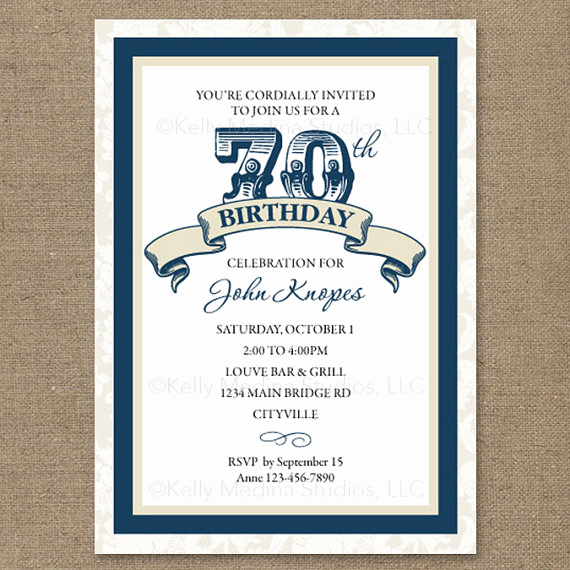 Wording for 70th Birthday Invitation Unique 8 70th Birthday Party Invitations for Your Ideas