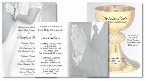 Wording for First Communion Invitation Awesome First Holy Munion Invitations