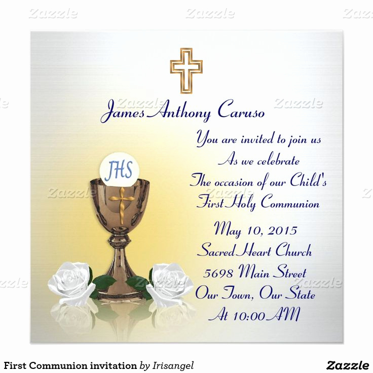 Wording for First Communion Invitation Best Of 17 Best Images About First Munion Invitations and Thank