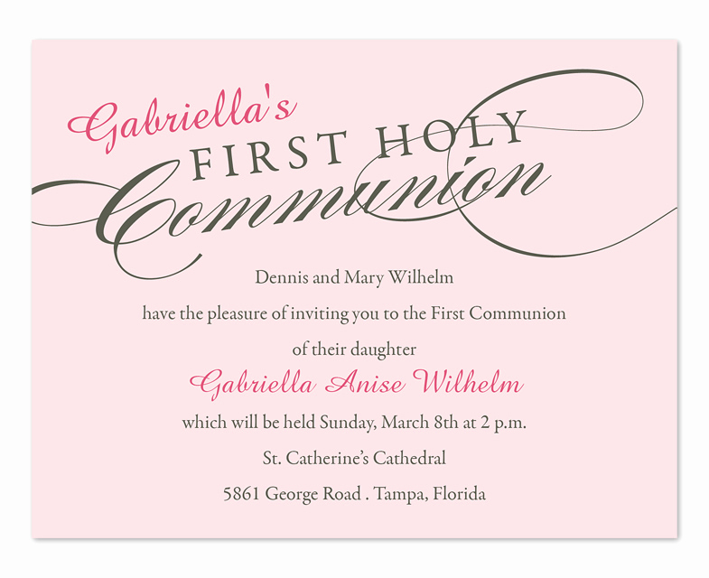 Wording for First Communion Invitation Lovely First Holy Munion Party Invitations by Invitation