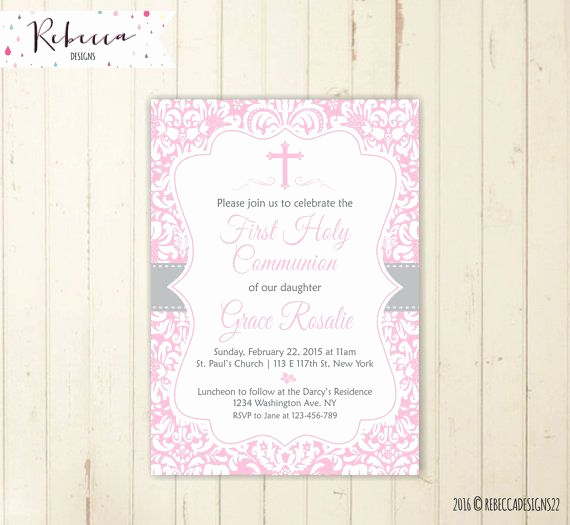 Wording for First Communion Invitation New Best 25 Munion Invitations Ideas On Pinterest
