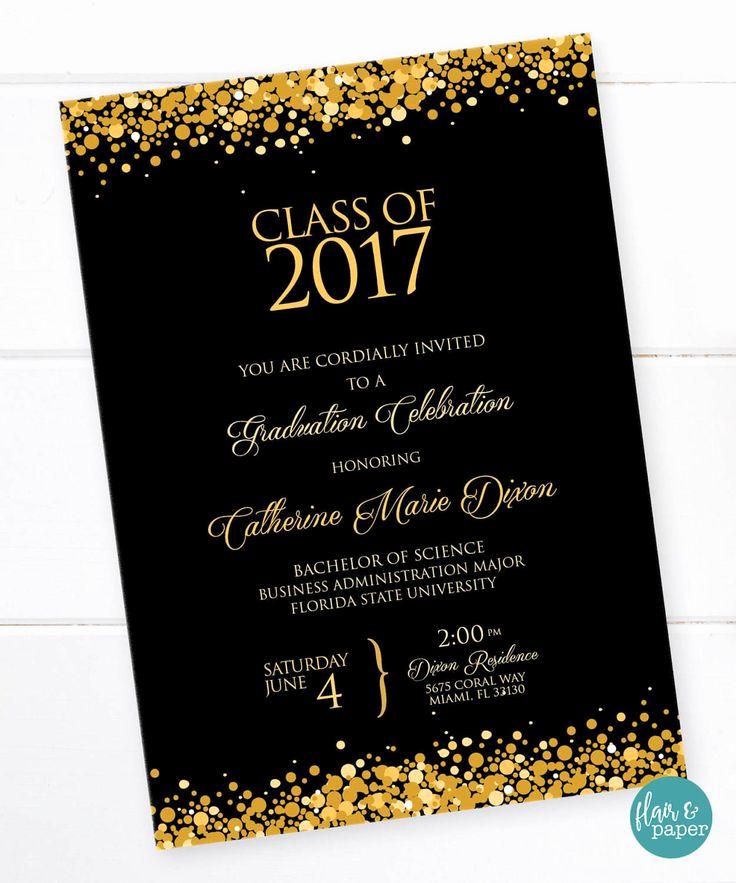 Wording for Graduation Invitation Fresh 25 Best Ideas About High School Graduation Invitations On