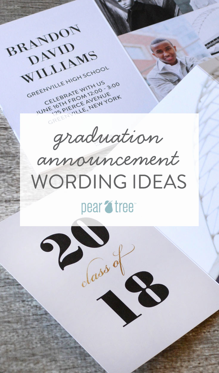 Wording for Graduation Invitation Lovely Graduation Announcement Wording Ideas