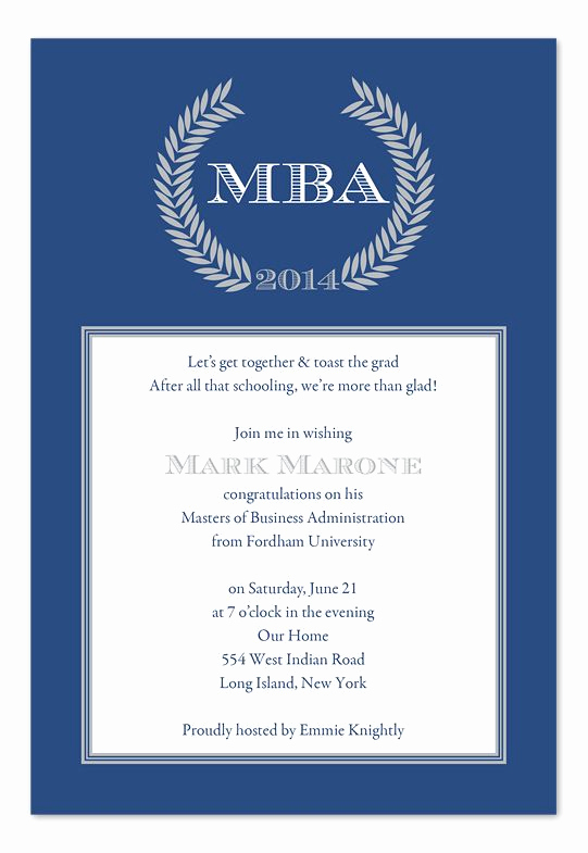 Wording for Graduation Party Invitation Awesome sophisticated Graduate Invitations