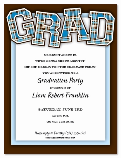 Wording for Graduation Party Invitation New College Graduation Party Invitation Wording Cobypic