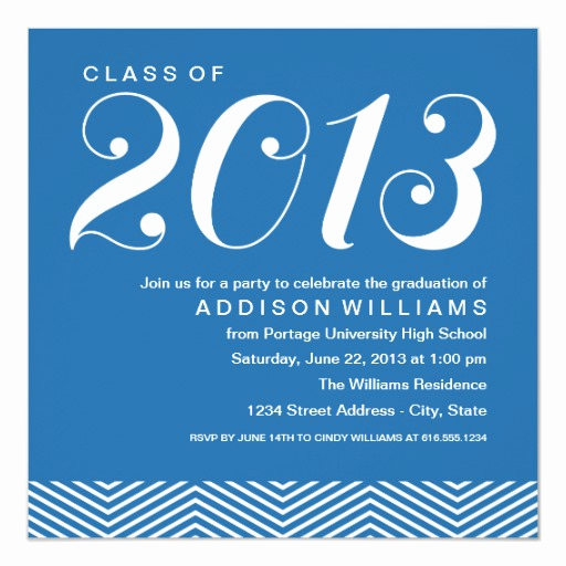 Wording for Graduation Party Invitation New Graduation Party Invitations Stylish Stripes