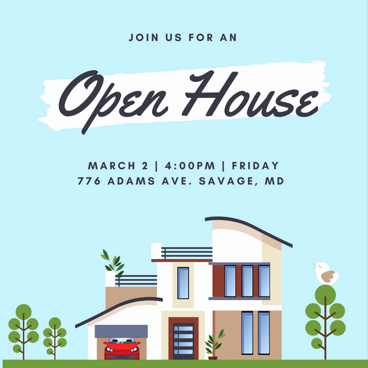Wording for Open House Invitation Awesome Open House Invitation Templates Canva