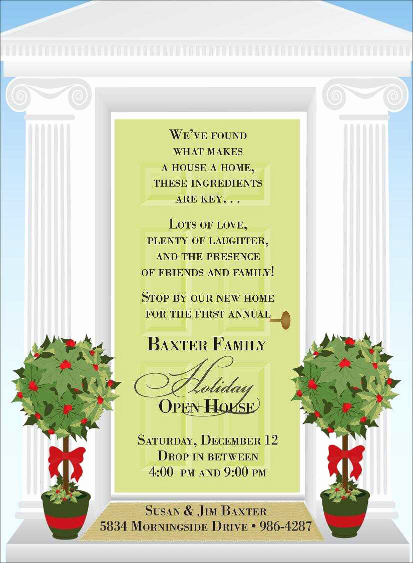 Wording for Open House Invitation Elegant Christmas Open House Invitations Christmas Open House
