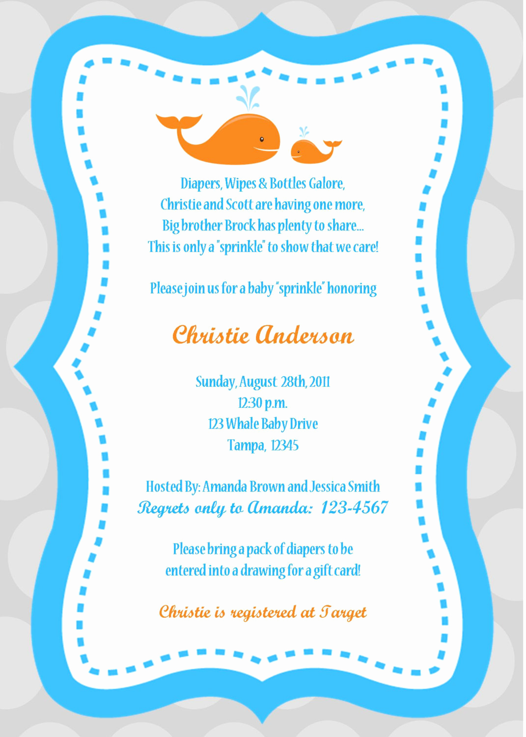 Wordings for Baby Shower Invitation Inspirational Whale Baby Shower Invitation