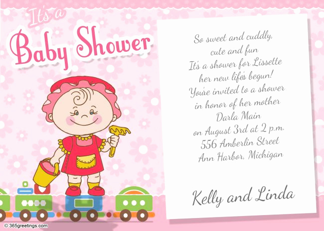 Wordings for Baby Shower Invitation Lovely Baby Shower Invitations 365greetings