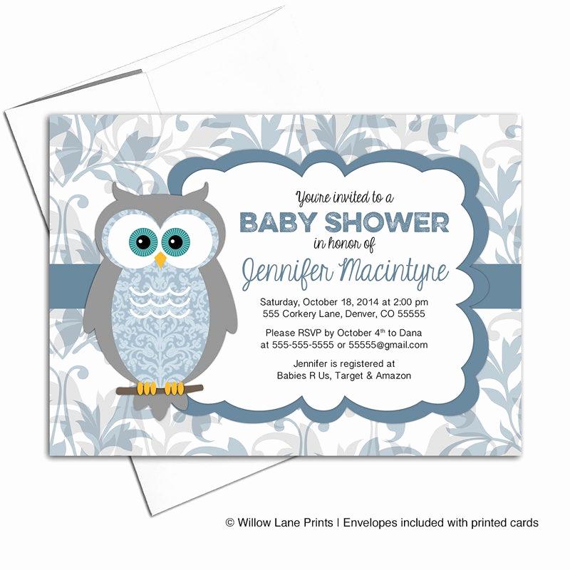 Work Baby Shower Invitation Fresh Printable Baby Shower Invitations for A Boy Owl Baby Shower